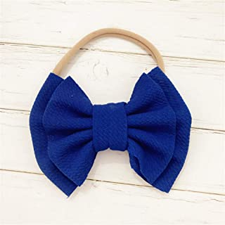 FairOnly Baby Headband Baby Girl Headbands for Girls Turban Baby Haarbandjes Baby Bows Headband Nylon Bow Hair Accessories Blue for Kids Baby