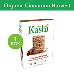 Kashi Organic Cinnamon Harvest Breakfast Cereal - Vegan | 16.3 Oz Box