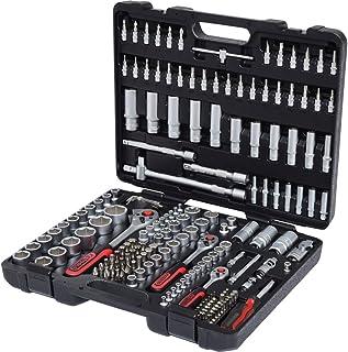 """Ks Tools 917.0779 1/4"""" + 3/8"""" + 1/2"""" Zestaw Kluczy Nasadowych 179-Częściowy Standardowe 1/4, 3/8, 1/2 Zoll Czarny/Szary/Cz..."""