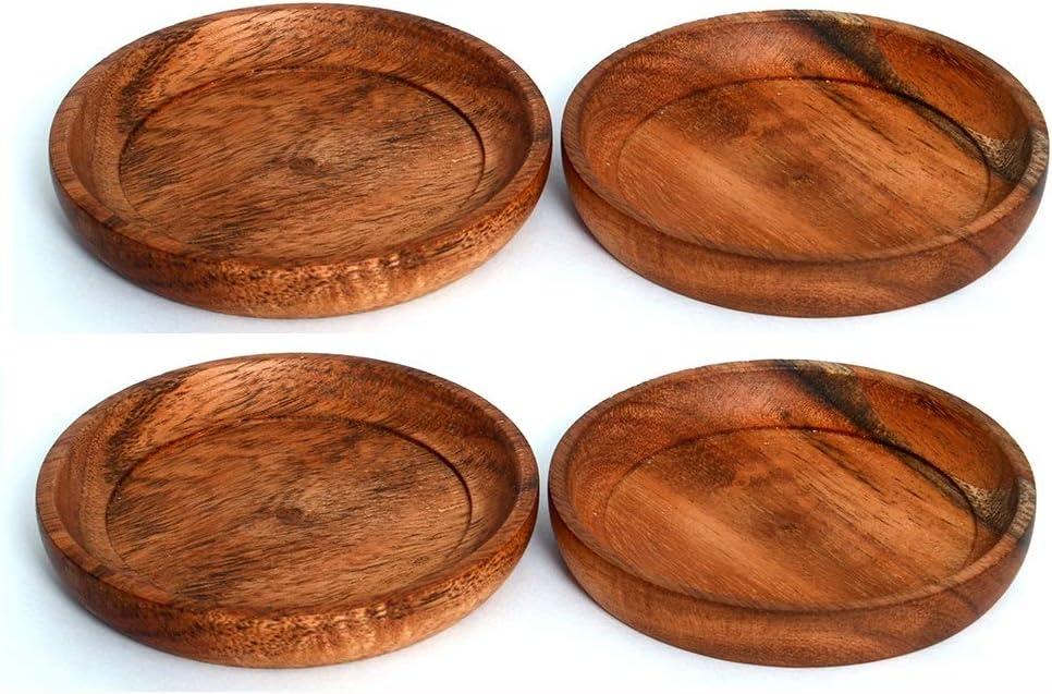 Kaizen Casa - Posavasos apilable (madera de acacia)