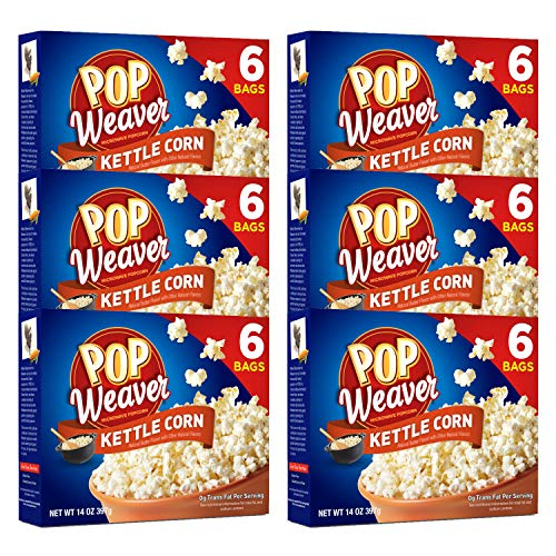 Pop Weaver Kettle Corn Microwave Popcorn - 36 Bags
