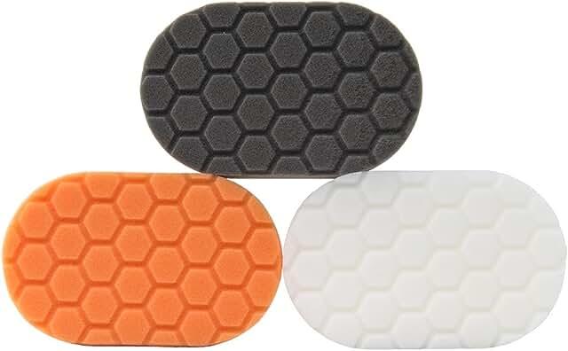 Orange, black, and white hand applicators.