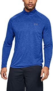 Men's Tech 2.0 Half Zip Men's Jogging Top Long Sleeve Light and Breathable Zip Up Top for Working Out