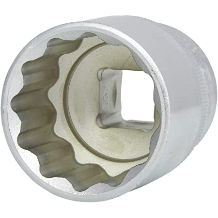 1//2 Zoll, 21 mm, 38 mm L/änge, metrisch, Chrom-Vanadium Stahl, Maxi-Drive Profil 1-17-064 Stanley Steckschl/üssel 12-Kant