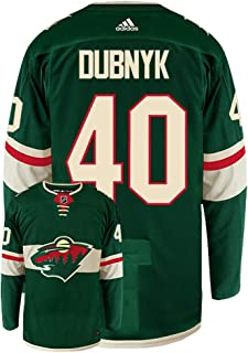 adidas Devan Dubnyk Minnesota Wild Authentic Home NHL Hockey Jersey