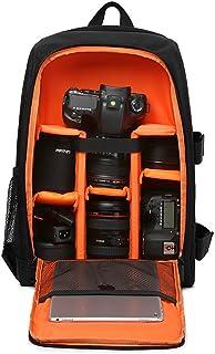 Mochila impermeable profesional de fotografía para cámaras réflexes DSLR 15,6 ordenador 43CM*15.5CM*30CM( negro con naranja)