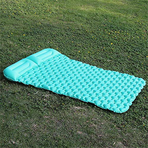 Camping Sleeping Pad Mat Lightweight Folding Sleeping Mat Double Self-inflatable Picnic Mat Space-saving Picnic Mat Lightweight Waterproof for Backpacking Hiking ( Color : Green , Size : 136x195x6cm )