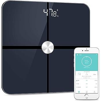 体重計 体組成計 体脂肪計 高精度ITO&BIA技術 体脂肪/体水分/筋肉量/BMIなど多項健康指標 赤ちゃんの体重計算可能 iPhone/Androidアプリで健康管理 健康管理/肥満予防/体重管理【ブラック】
