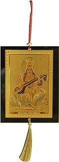 Divya Mantra Sri Saraswati Talisman Gift Pendant Amulet for Car Rear View Mirror Decor Ornament Accessories/Good Luck Charm Protection Interior Wall Hanging Showpiece