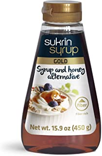 Sukrin Syrup Gold - Honey and Syrup Substitute - Low Carb Syrup - Keto Sugar Alternative - Sugar Free Baking Supplies - 45...