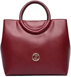 Zeneve London Amelia Satchel Bag For Women - Red