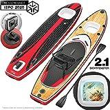 ¡Novedad de feria ISPO 2020! Premium Tabla Hinchable Paddle Surf WBX con Ventana 2en1 | Agarre para cámara + 9en1 Set SUP | Marca de calidad alemana | Tabla inflable Stand Up Paddle| Asiento de kayak
