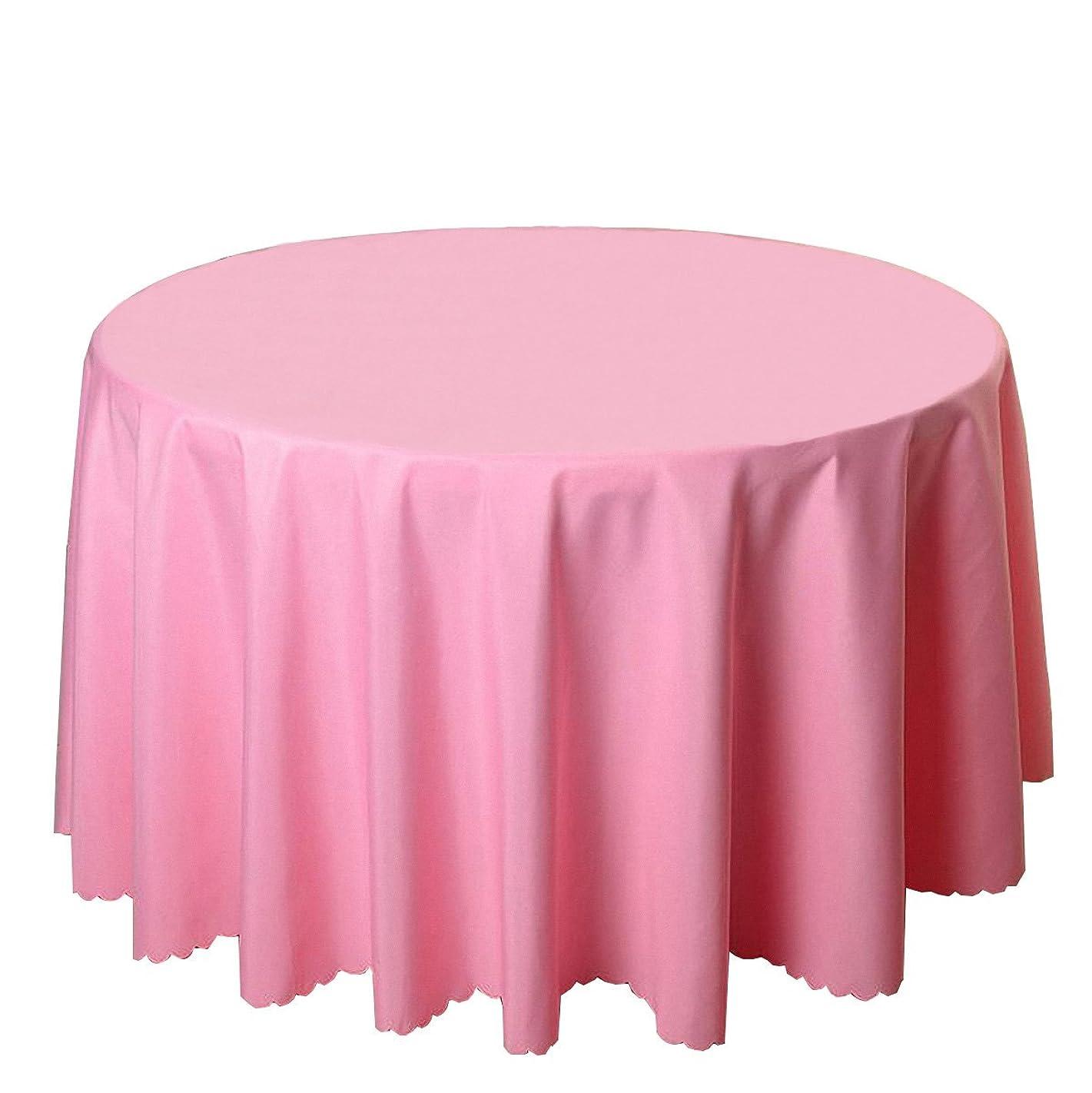 老人ヘビ簿記係ヨーロッパ人 クラシック テーブルクロス、 円形 テーブルクロス、 ピュア 色、 ポリエステル テーブルクロス、 理想的 ために つかいます に ザ ホーム、 キッチン、 ホテル (ピンク, テーブルサイズ2.0M)