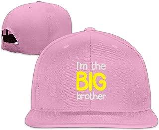 ZYXcustom I'm The Big Brother Washed Unisex Adjustable Flat Bill Visor Baseball Hat