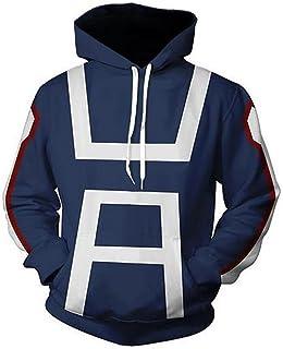 b3de8c728c Huojice My Hero Academia Hoodies Sweatshirt Cosplay Costume T-Shirt  Training Suit Jacket