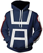 Huojice My Hero Academia Hoodies Sweatshirt Cosplay Costume T-Shirt Training Suit Jacket