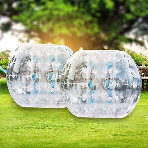 Ambesten 1,2M/ 1,5M Bubble Ball Fußball Inflatable Bumper Ball Bubble Soccer Ball 0,8 mm PVC Zorbing Ball Blow Up Toy in 5 Min für Kinder Erwachsene (2 Stück x 1,2m)