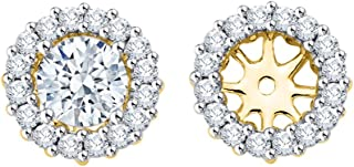 Diamond Earring Jackets in 14K Gold (1/2 cttw, G-H, I2-I3)
