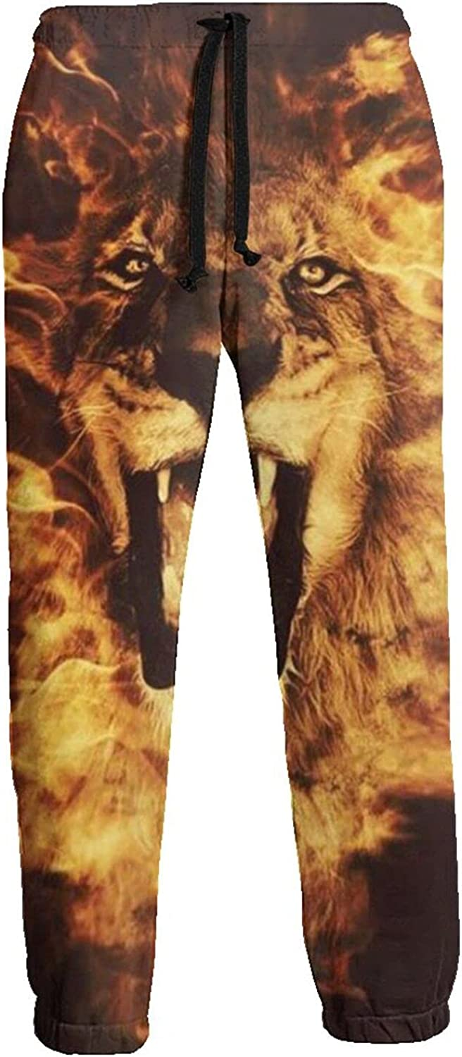 Active Sweats Jogger Pants Fire Angry Lion Furious Running Joggers Casual Sweatpants for Men Women