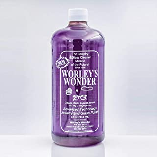 Worley's Wonder Jewelry & Glass Cleaner (32 Ounce Refill Bottle)