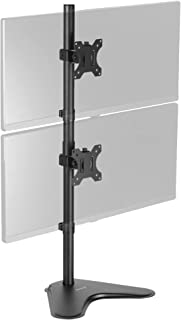"""VIVO VIVO Dual Monitor Desk Stand Free-standing LCD mount, Holds in Vertical Position 2 Screens up to 30"""" (STAND-V002L)"""