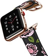 amBand Leather Band Compatible with Apple Watch 38mm 40mm 42mm 44mm, Genuine Leather Vintage Replacement Strap Classic Ban...