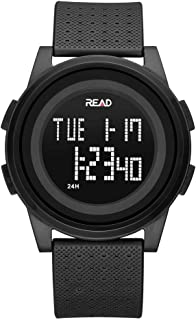 Digital Sport Watch, Waterproof Outdoor Electronic Wristwatch, with Alarm, Stopwatch, Calendar, LED Display, Shockproof, Watches for Boys Teenagers Junior Girls Ladies, R90003
