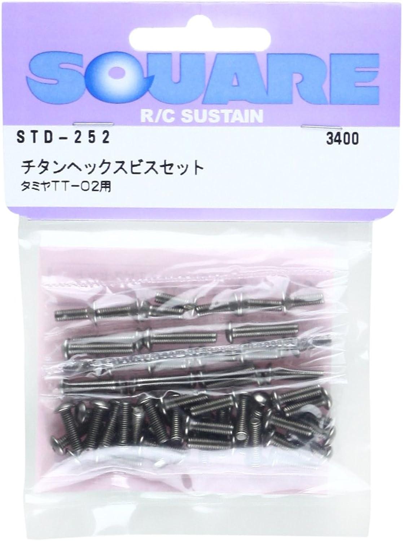 alta calidad y envío rápido Titanium hex screw set (for Tamiya TT-02) STD-252 STD-252 STD-252  perfecto