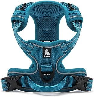 "PetsUp Front Range Reflective Nylon Dog Vest Harness (XL, Blue, 81""-107"" cm Girth)"