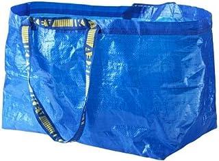 Ikea Frakta 172.283.40 Lot de 5 grands sacs à provisions Bleu