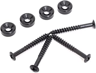 Musiclily Electric Guitar Bass Neck Joint Bushings & Bolts,Black (4 Pieces)