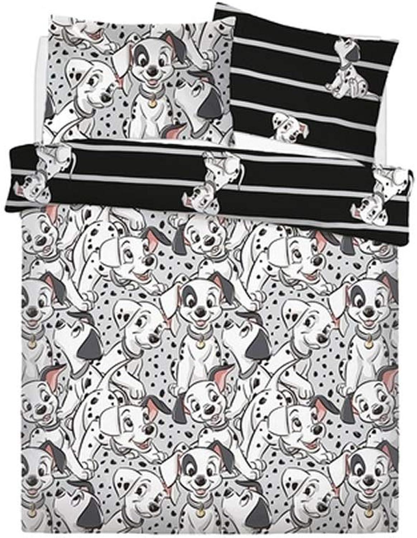 Dalmatians Disney 101 Reversible redary Single Bed Duvet Unfilled Quilt Cover Set
