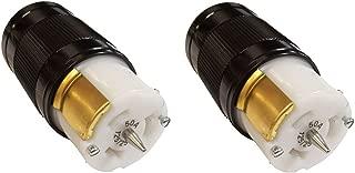 CEP/Marinco CS6364N Female Plug 50-Amp 125/250V Twist Lock Connectors, 2-Pack