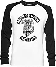 Hijos De Odin - Asgard Capítulo Unisex Camiseta De Béisbol Manga Larga Hombre Mujer Blanca Negra