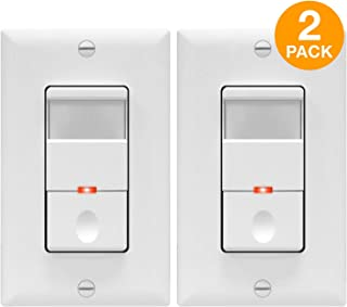 TOPGREENER Motion Detector Light Switch, in Wall Sensor Switch, Occupancy Sensor Switch 500W LED