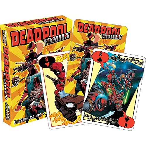 AQUARIUS 52463 Marvel Deadpool Family, Carte da Gioco, Multicolore, 7,6 cm