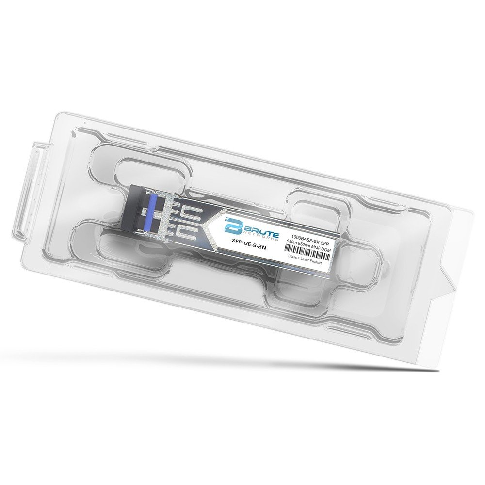 1000BASE-SX 550m MMF 850nm SFP Transceiver Brute Networks MGBSX1-BN Compatible with OEM PN# MGBSX1