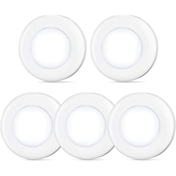 Tap Light Push Lights STAR-SPANGLED Mini Night Touch Light LED Puck Lights Portable Under Cabinet Lighting Battery Operated Powered DIY Stick On Lights Wireless Closet Counter Kitchen Cool White 5Pack