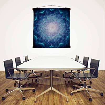 ArtzFolio Geometric Abstract D4 Canvas Fabric Painting Tapestry Scroll Art Hanging 24inch x 24inch (61cms x 61cms)