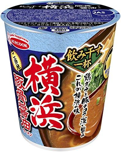 エースコック タテ型 飲み干す一杯 横浜 豚骨醤油ラーメン 73g×12個