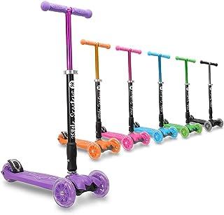 3StyleScooters® RGS-2 Patinete Scooter Tres Ruedas para Niños Niños de 5 Años o Más con Luces LED en Las Ruedas, Diseño Plegable, Manillar Ajustable, Peso Ligero
