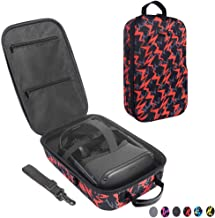 Esimen Fashion Travel Case for Oculus Quest VR Gaming Headset and Controllers Accessories Carrying Bag (Orange)