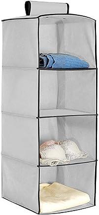 Hokipo Hanging 4-Shelf Closet Cloth Organizer, 30 X 30 X 80 Cm.