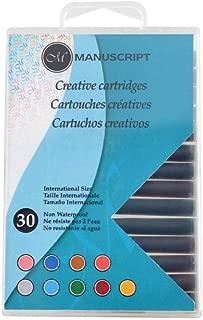 Manuscript Pen Creative Calligraphy Cartridges (30 Pack), Assorted
