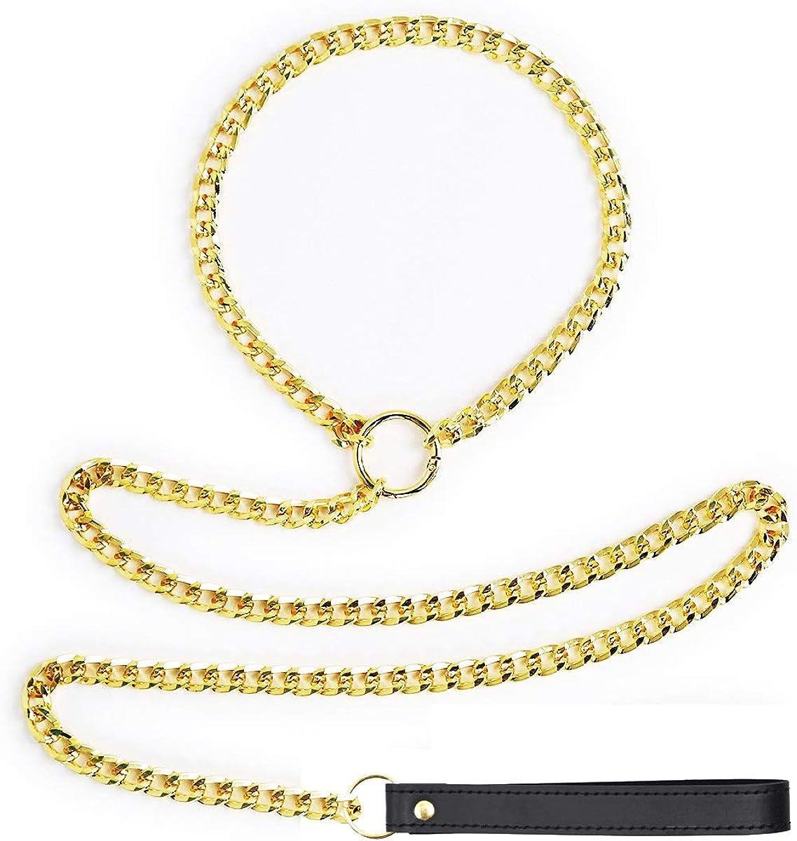 LEWECEEO Women Men Choker Chain Necklace O-Ring Collar Choker