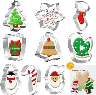 Cortador de galletas 3D de Navidad, cortador de galletas de acero inoxidable, árbol de Navidad, reno, muñeco de nieve, Papá Noel, muñeco de jengibre, cortador de galletas en forma de nieve