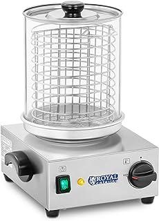 Royal Catering Machine à Hot Dog Professionnelle Appareil Hot Dog RCHW 800 (Puissance 800 Watts, Température 0-110°C, Tail...
