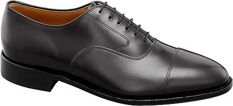 Johnston & Murphy Men's Melton Cap Toe Shoe Black Calfskin 10 C US