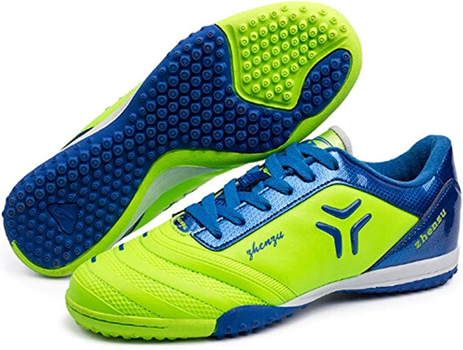 CELINEZL Le Football Brille Zhenzu Chaussures de Football en PU, entraîneHommest Professionnel en Plein air, Taille EU  31 (Vert)