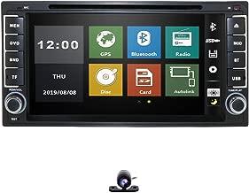 hizpo 7 Inch Double 2 Din Car Radio Stereo GPS Navigation Bluetooth WiFi Mirrorlink SWC Car DVD for Toyota Camry Corolla RAV4 4Runner Hilux Tundra Celica Auris Sequoia Prado+Free Backup Camera